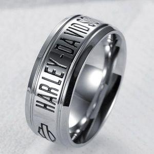 Harley Davidson mens ring stainless steel